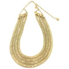 Doris Panos White Topaz Mesh Diamond Necklace NCCH6410
