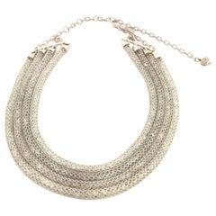 Doris Panos White Topaz Mesh Diamond Necklace NCCH6410WG