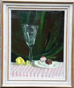 Still Life with Cakes - Scottish 1950s art still life oil painting female artist