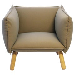 Dormi Lounge Chair with Grey Fabric by the Swedish Ire Furniture