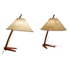 'Dornstab' Table Lamps by J.T. Kalmar for Kalmar Werkstatten, a Pair Available