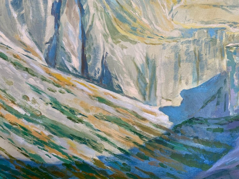 Black Pond - Figurative Oil Painting, Landscape, Mountains, Colorful 4
