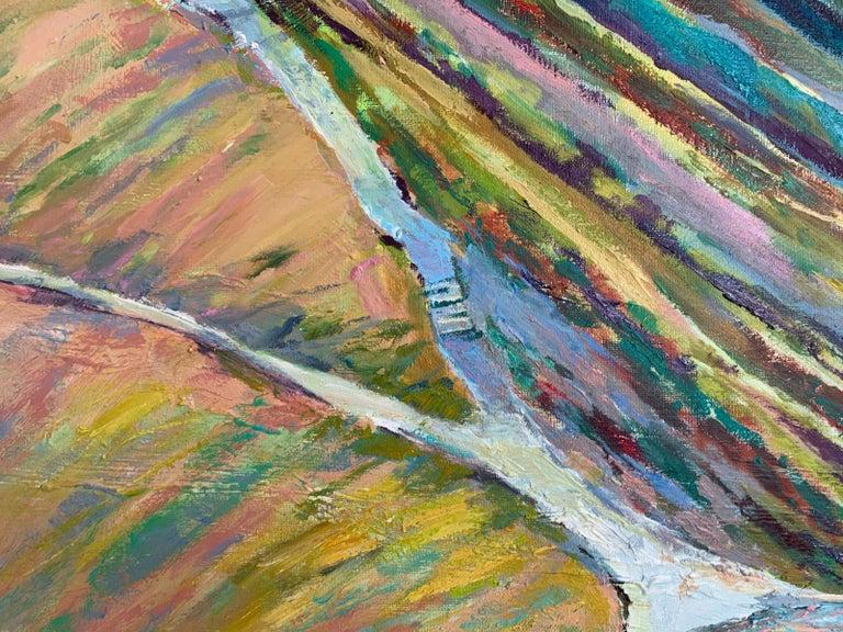 Liliowe Pass - Figurative Oil Painting, Landscape, Mountains, Colorful For Sale 2