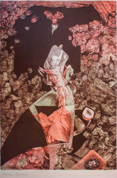 Time - Original Lithograph by Dorothea Tanning - 1960 ca.