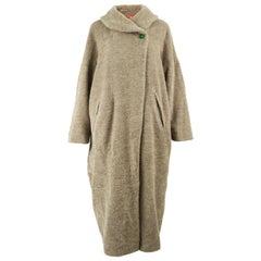 Dorothee Bis 1980s Vintage Women's Long Alpaca Wool Cocoon Coat
