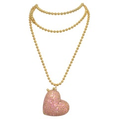 Dorothy Bauer Vintage Chain Necklace with Heart Locket Pendant