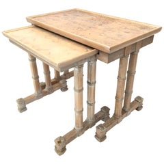 Dorothy Draper Heritage Faux Bamboo Nesting Side Tables