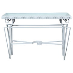 Dorothy Draper Style Wrought Iron Console