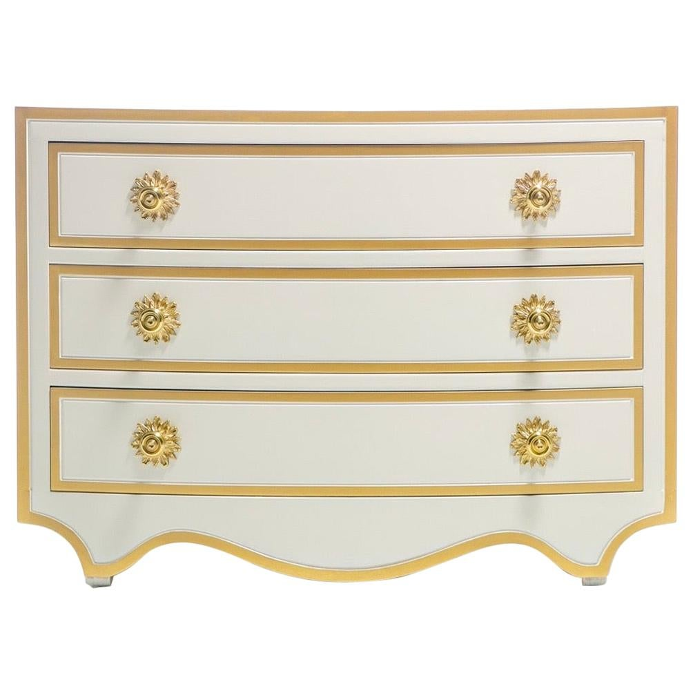 Dorothy Draper Viennese Collection Chest Lacquered in Ivory, circa 1963