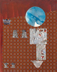 Dorothy Hood, Crystals and The Blue World, Collage