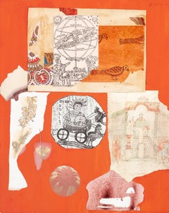 Dorothy Hood, Various Happenings, Collage on Mat
