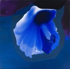 Dorothy Hood, Single Blue, Oil on Canvas