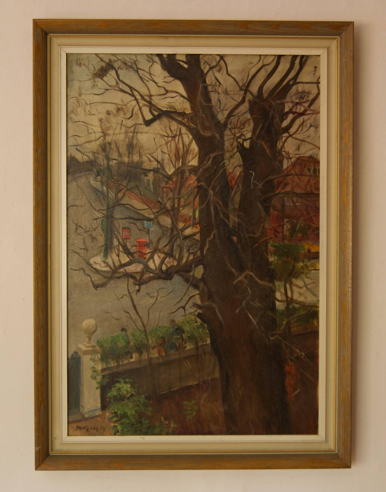 Artist's Address - Mid 20th Century Impressionist Oil by Dorothy King - London For Sale 1