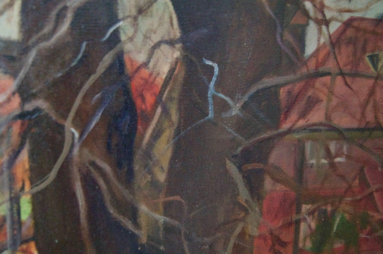 Artist's Address - Mid 20th Century Impressionist Oil by Dorothy King - London For Sale 3
