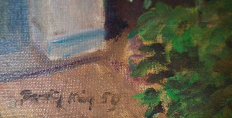 Artist's Address - Mid 20th Century Impressionist Oil by Dorothy King - London For Sale 4