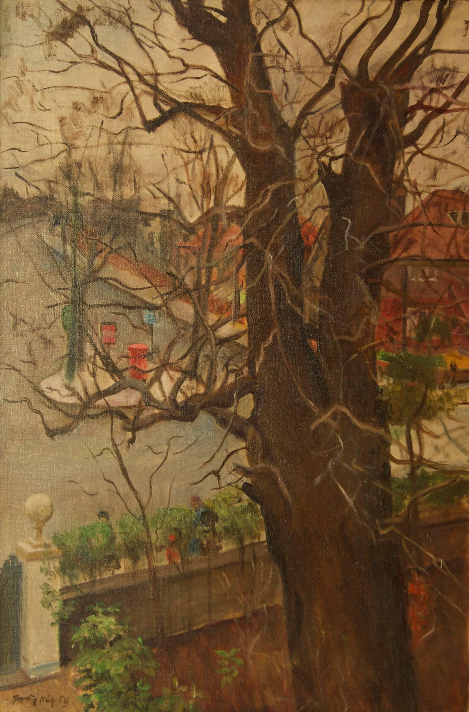 Artist's Address - Mid 20th Century Impressionist Oil by Dorothy King - London