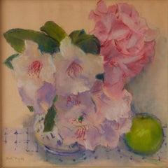 Flowers & Apple Still Life