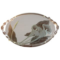 Dorothy Thorpe Midcentury Glass and Lucite Tray