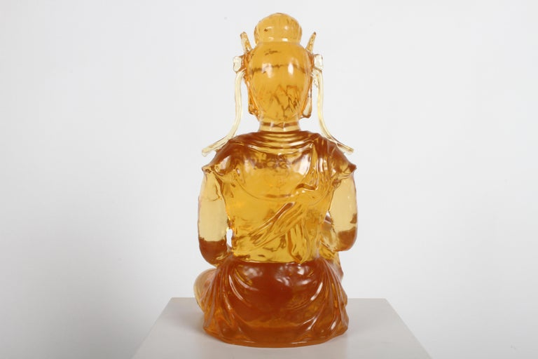 Dorothy Thorpe Resin Buddha In Good Condition For Sale In St. Louis, MO