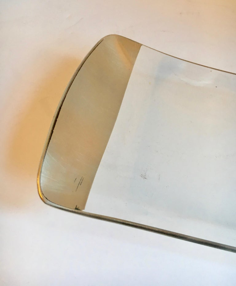 Dorothy Thorpe Silver and Glass Platter Tray For Sale 2