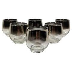 Dorothy Thorpe Silver Glassware Barware Mid Century, 1960s