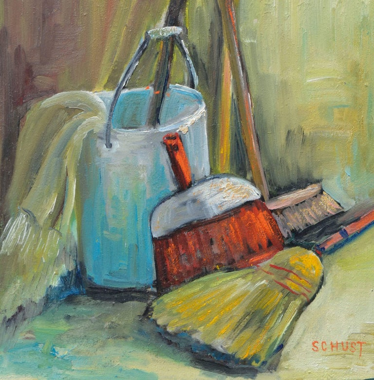 Domestic Tools - Modern Still-Life  - Painting by Dorothy Violet Bywater-Schust