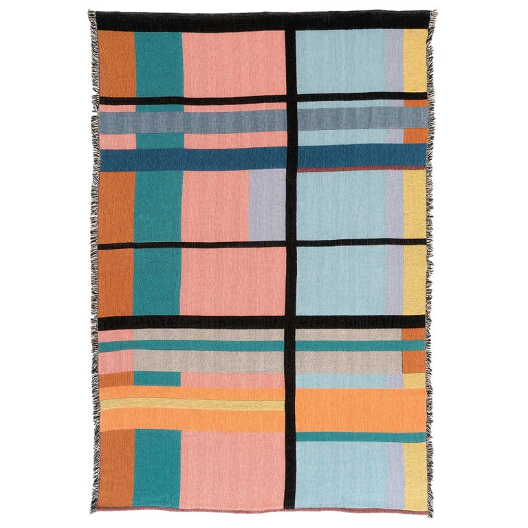 Dorothy Woven Throw by Studio Herron For Sale