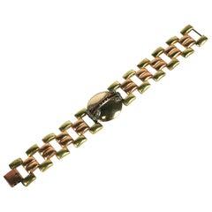 Dorsons 2 Toned Retro Link Bracelet