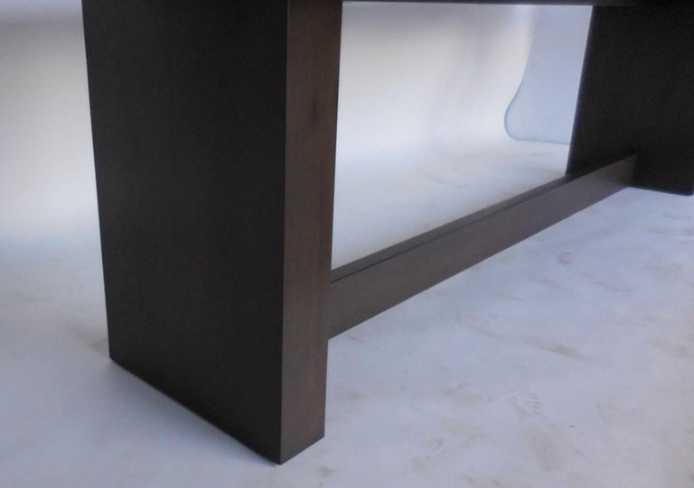 Dos Gallos Custom Modern Walnut Dining Table with Leaves For Sale 2