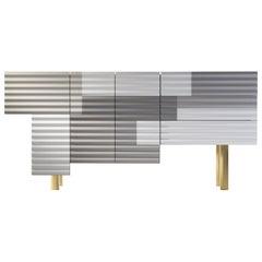"Doshi Levien Shanty Large Cabinet ""Summer"" Model B MDF / Glass / Aluminium"