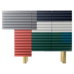 "Doshi Levien Shanty Small Cabinet Model ""Summer"" MDF / Glass / Aluminium by BD"