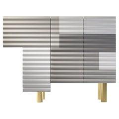 "Doshi Levien Shanty Small Cabinet Model ""Winter"" MDF / Glass / Aluminium by BD"