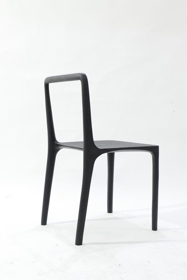 Wood Dot Chair, Hand-Sculpted and Signed by Cedric Breisacher For Sale