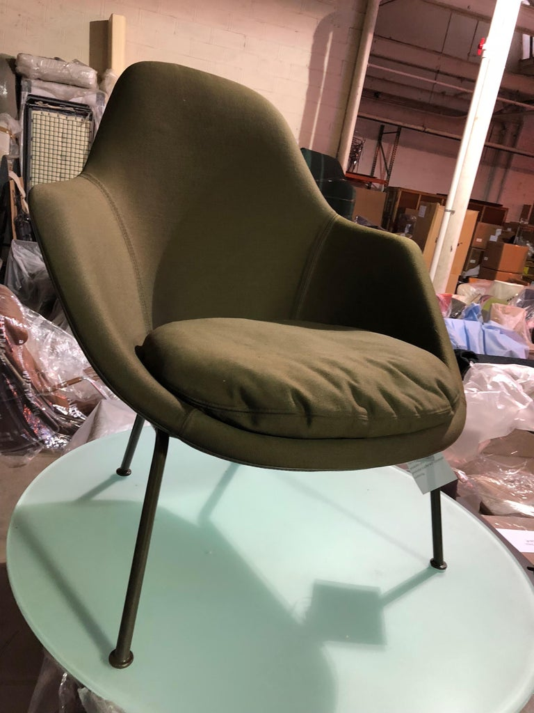 Italian Tacchini Dot Green Armchair by Patrick Norguet