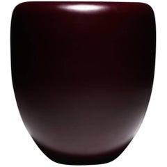 Dot, Side Table or Stool, Deep Garnet Mat, by Reda Amalou Design, 21st Century
