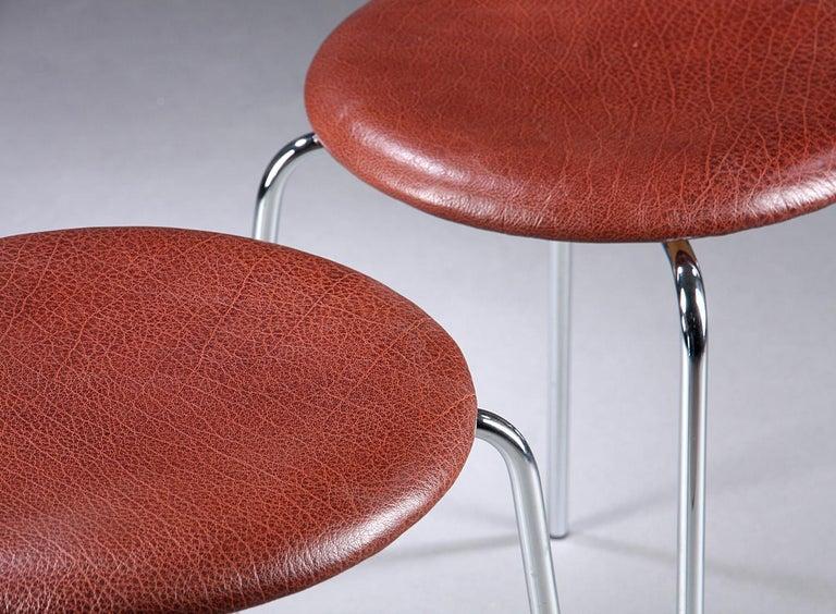 Scandinavian Modern Dot Stools by Arne Jacobsen for Fritz Hansen For Sale