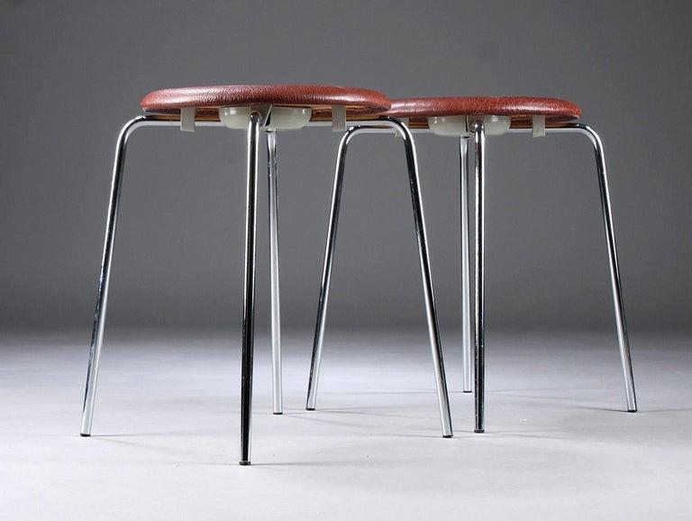 Danish Dot Stools by Arne Jacobsen for Fritz Hansen For Sale