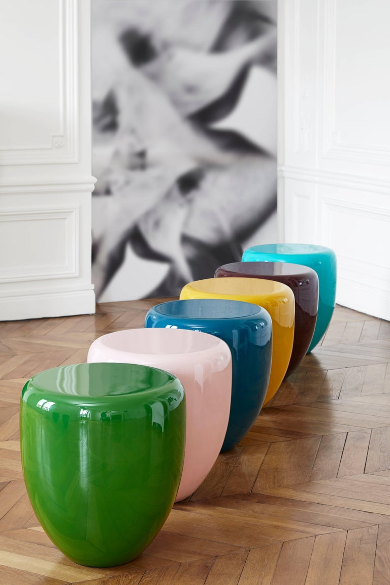 Contemporary Dot, Side Table or Stool, Bohemian Blue, by Reda Amalou Design, 21st Century For Sale