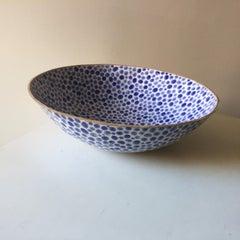 """Dots Ceramic Bowl 12.5"""" by Lana Kova, various glazes available.."""
