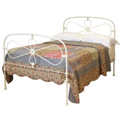 Double Antique Bed in Cream, MD87