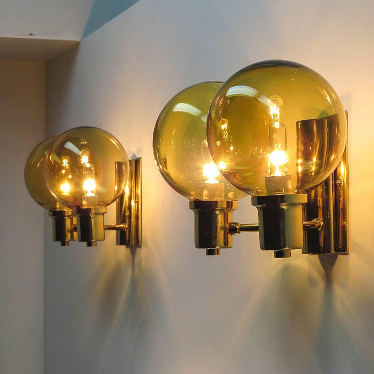 Double Arm Wall Lights by Hans Agne Jakobsen, 1950 For Sale 2