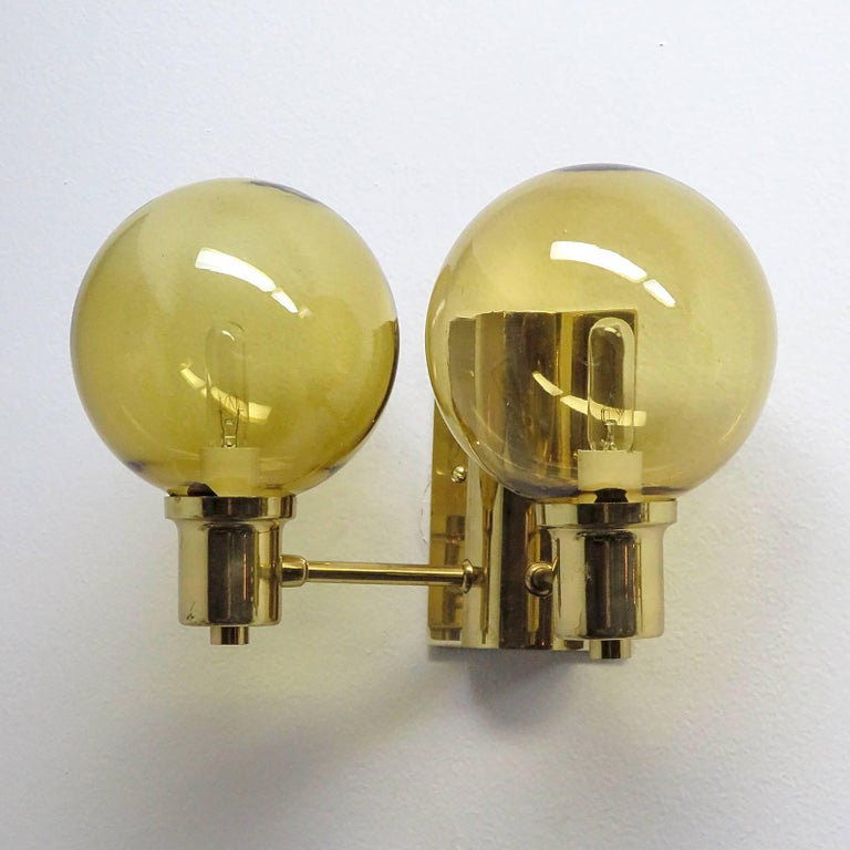 Mid-Century Modern Double Arm Wall Lights by Hans Agne Jakobsen, 1950 For Sale