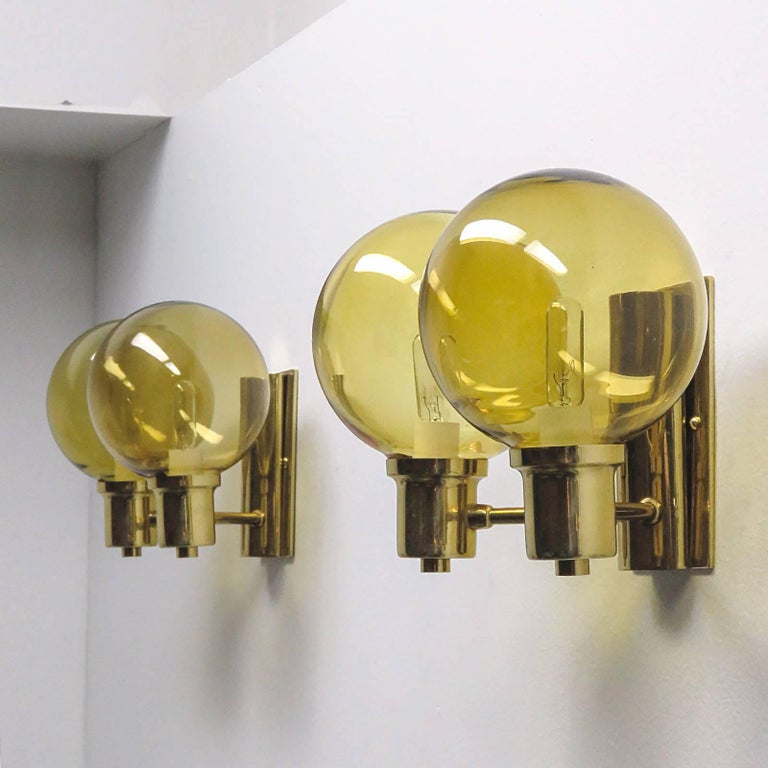 Swedish Double Arm Wall Lights by Hans Agne Jakobsen, 1950 For Sale