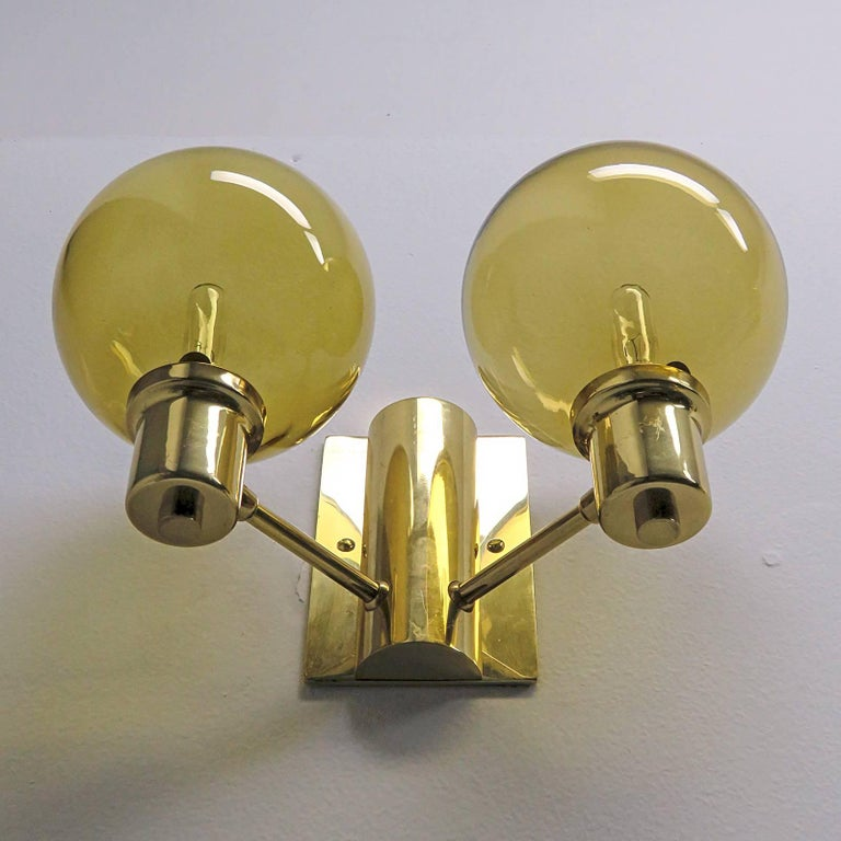 Mid-20th Century Double Arm Wall Lights by Hans Agne Jakobsen, 1950 For Sale