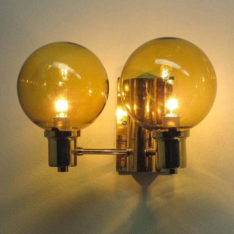 Double Arm Wall Lights by Hans Agne Jakobsen, 1950 For Sale 1