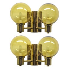 Double Arm Wall Lights by Hans Agne Jakobsen, 1950