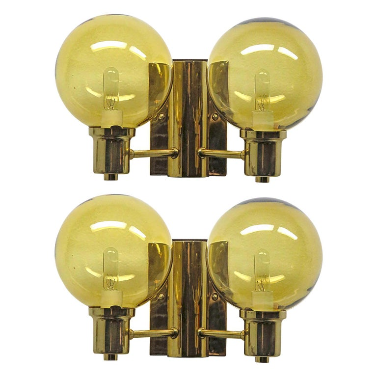 Double Arm Wall Lights by Hans Agne Jakobsen, 1950 For Sale