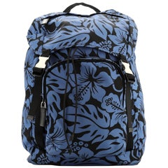 Double Buckle Backpack Printed Tessuto Large