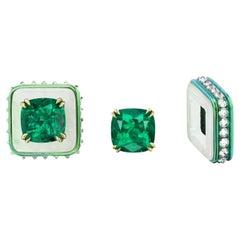 Double Certified Muzo Emerald Custom Earrings