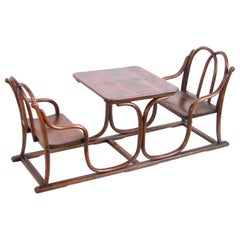 Double Children's Bench, Chair, with Table Thonet, from 1885